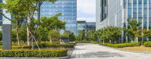 landscape design for office buildings