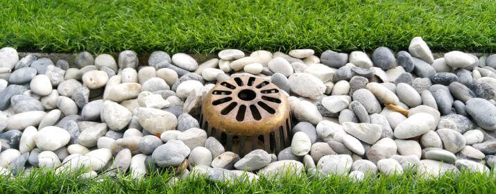 Landscape drainage installation in Houston