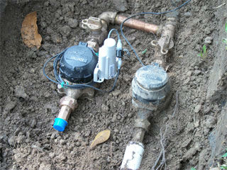 separate water meter for irrigation system