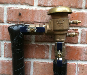 winterize backflow preventer